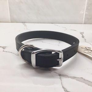 18 inch Black Leather Dog Collar OmniPet NWT